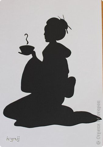 Geisha | Cards - Silhouettes | Stencil painting, Japanese ...