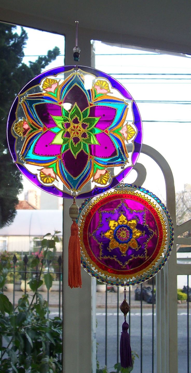 Mandala sun catchers