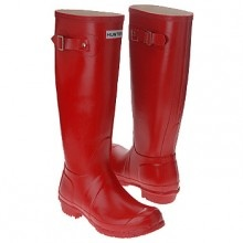 I could go for red rubber boots.  Cousin Brenda says you can wear red shoes with anything so I'm assuming that red boots would work the same.