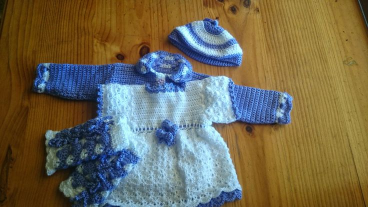 Crochet baby outfit for that special girl