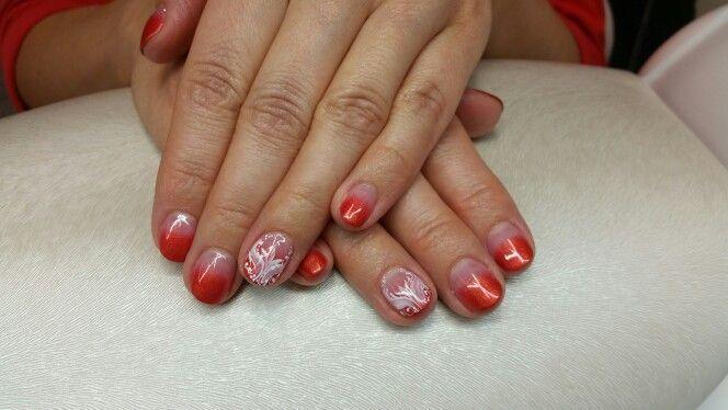 Autumn colors, gel nails