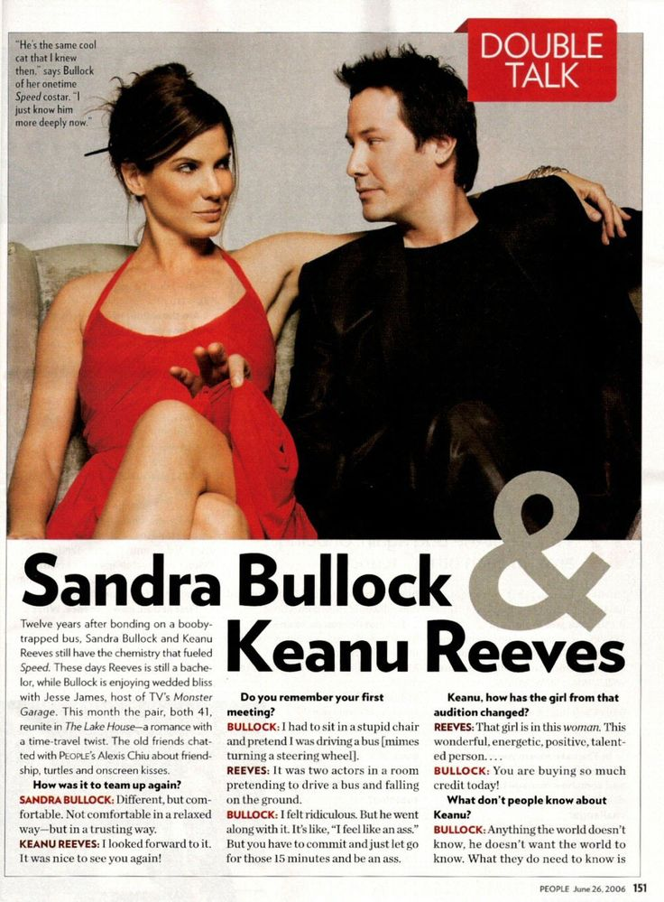 Sandra Bullock Keanu Reeves Interview  - Sandy the best actress and wo...