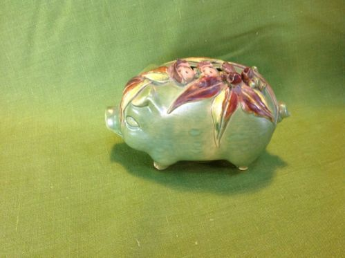 Sayers Pottery Pig Money Box With Gumnut Babies