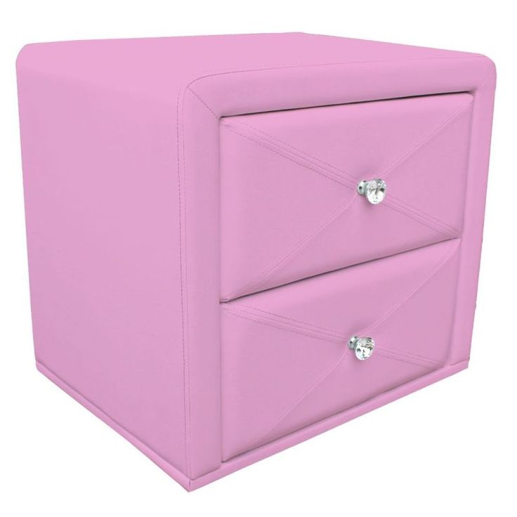Kids PU Leather Upholstered Bedside Table in Pink | Buy Baby & Kids