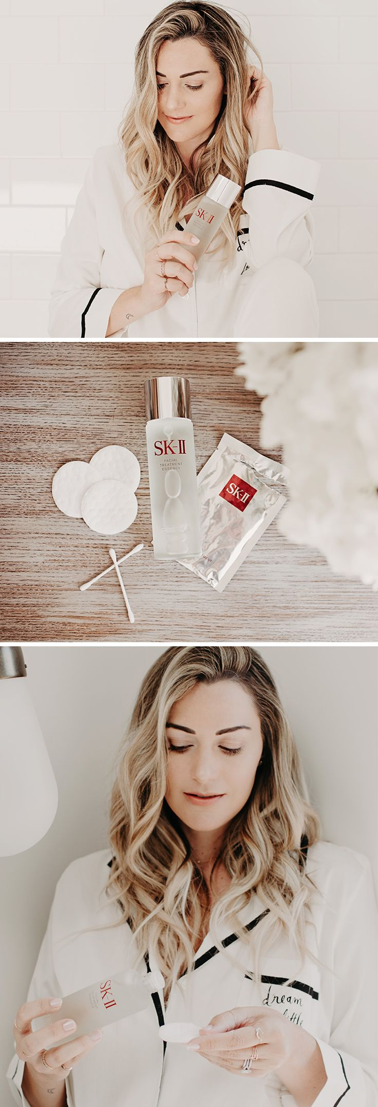 "Blogger Caitlin Lindquist, of Dash of Darling, is obsessing over her new skin care secret weapon, SK-II Facial Treatment Essence. She's maintaining that ""pregnancy glow"" long after her daughter was born by incorporating this best-seller into her daily regimen. Learn more about how she's getting her glowing skin on the blog."