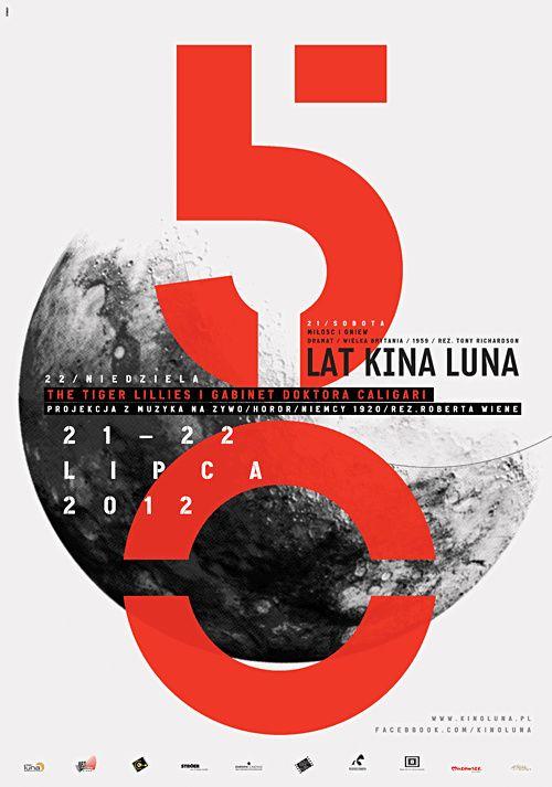 poster | 50 KINA LUNA by Krzysztof Iwanski   #typography #japan #japanese