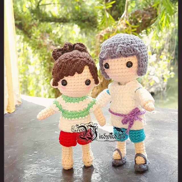 #千と千尋の神隠し #千尋 #ハク #白龍 #Crochet  #amigurumi #amigurumidoll #Handmade #handcrafted