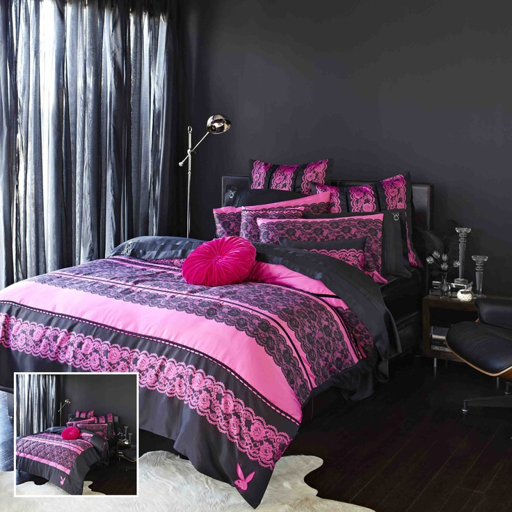 Amazing Adairs   Bedroom   Quilt Covers U0026 Coverlets   Mansion Collection By Playboy    Racey Lace