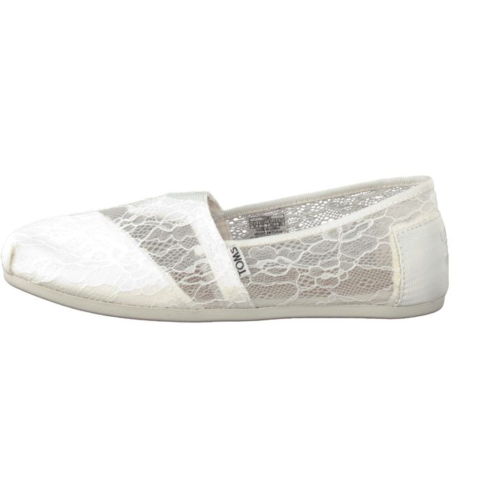 Kjøp Toms Seasonal Classic White Lace | Slip on för Dame ✓ Fri frakt ✓ Fri retur ✓ Rask levering. Prisgaranti!