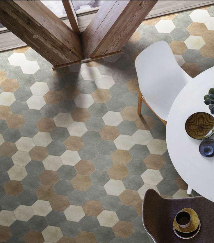 14oraitaliana / Collection: Terra / Tiles: Piombo, Gesso, Caramel