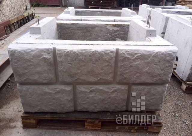 Бетонные блоки для подпорных стен производства завода в Беларуси. Подпорные стенки