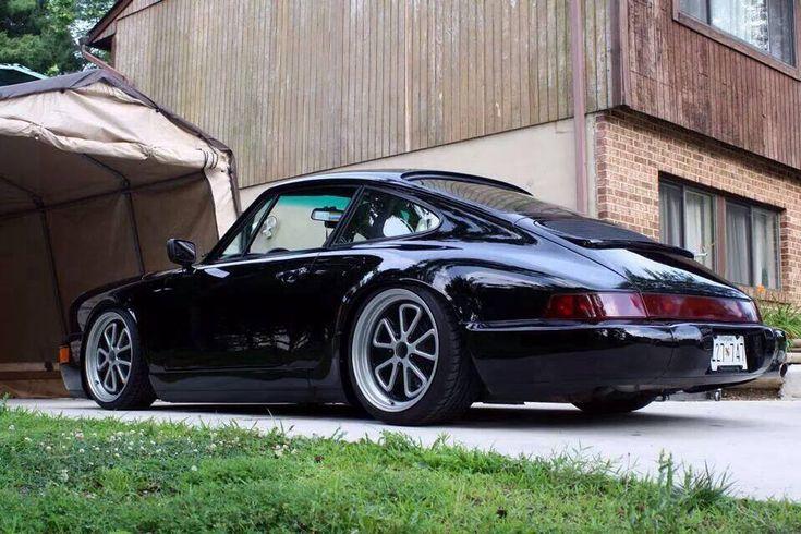 Black Porsche 964 #porsche