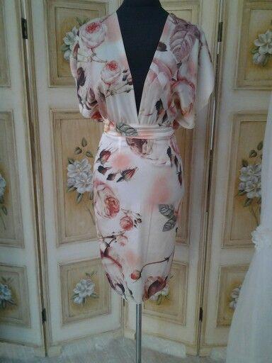 Silk chiffon dress.