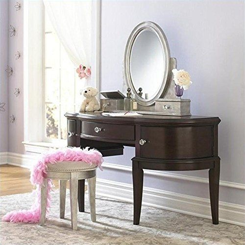 Samuel Lawrence Furniture Girls Glam Vanity Set in Black Cherry >>> You can get more details by clicking on the image.