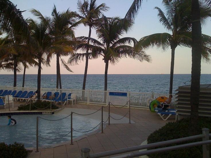 Fort Lauderdale Beach view from The Pelican Grand Beach Resort @pelicangrand  @pinterest