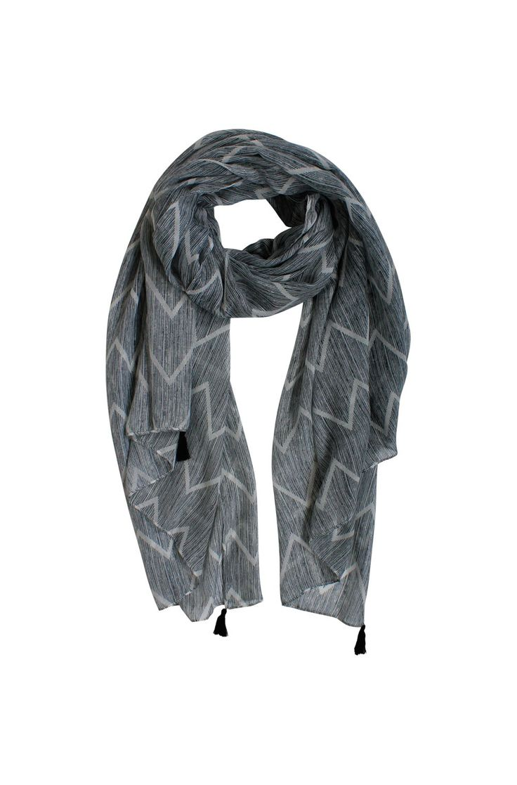 Scarves are always glam either for work dressing up your work style or casual on the weekends with jeans and tee-shirt. However you wear this scarf it always looks stylish. New season chevron print, this scarf is crafted from a soft, lightweight fabrication and is best draped around the neck for an effortless look. Main: Polyester. Care: Cool gentle hand wash as per care label. Designed in Australia.