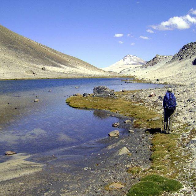 #TurismoSanClemente    VEGAS DE MENESES.   Ruta de trekking al Volcan Descabezado Chico.