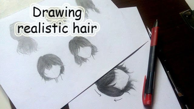 drawing manga hair easy step