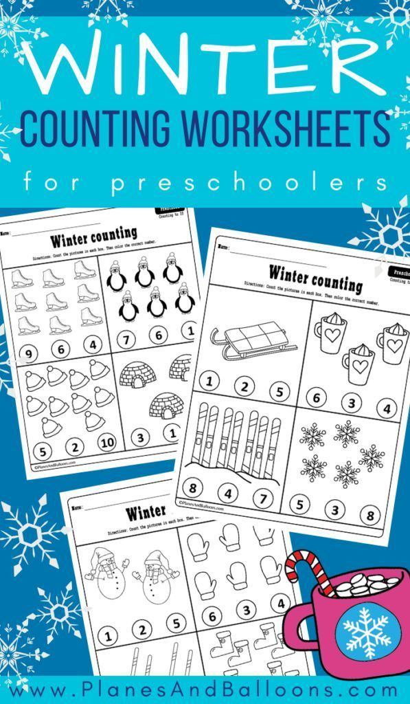 Winter Counting Worksheets For Preschool In 2020 Preschool Winter Worksheets Winter Activities Preschool Counting Activities Preschool