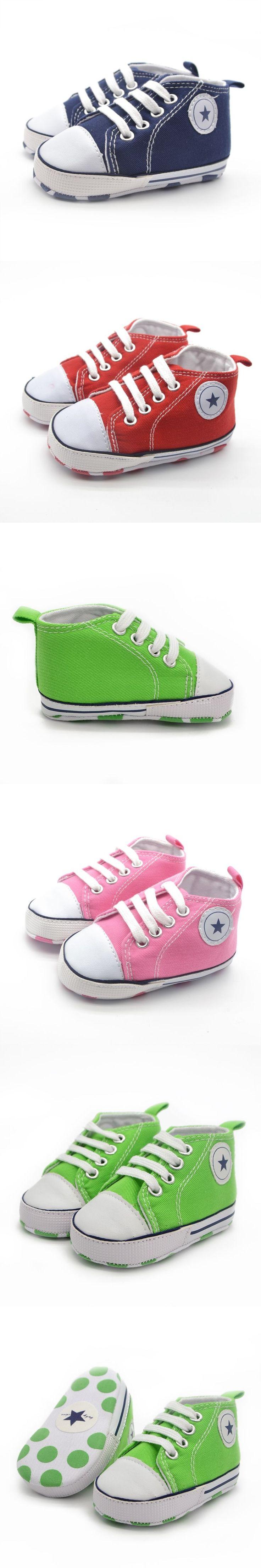 Infant Baby Boy Girls Soft Sole Sneaker Kids Prewalker Crib Shoes Trainers 0-18M