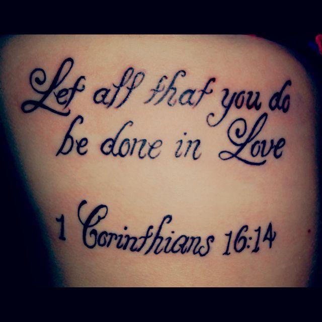 I'm not a fan of tattoos, but love this bible verse!  Rib tattoo