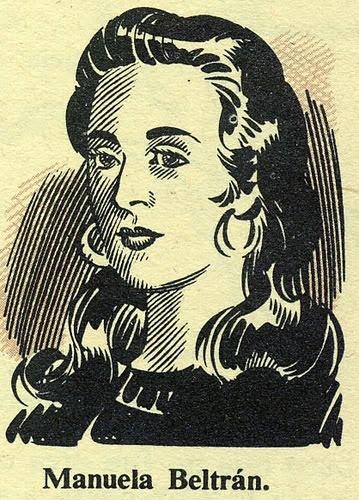 Manuela Beltrán era un Colombian chica quien organizado un revuelta de campesino en contra de impuestos en 1780.