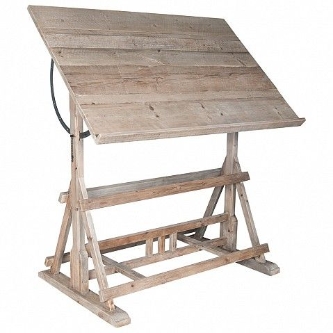 Professional draftman's table in bleached pine - Trade Secret