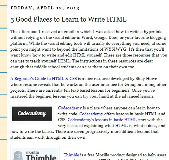 5 Good Places to Learn to Write HTML Tech ◦ Tutorials - groupon resume