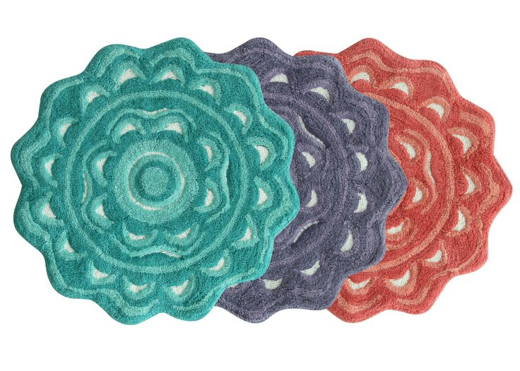 Bath mats from the Jessica Simpson Bath Collection.