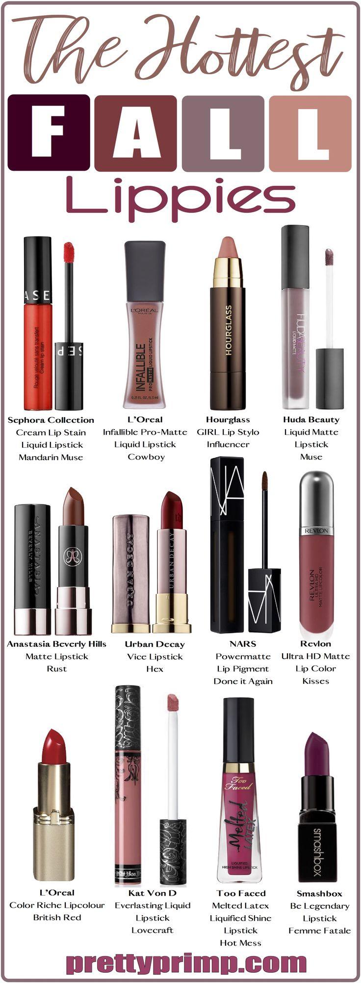 The most on trend lipsticks, liquid lipsticks, matte lipsticks, and more for fall!