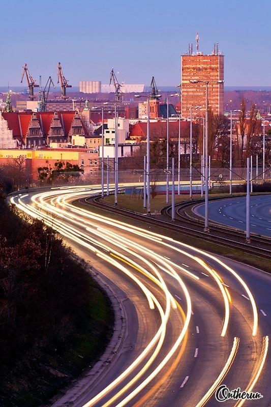 Gdansk in sunset light, 11.03.2014 beautiful <3