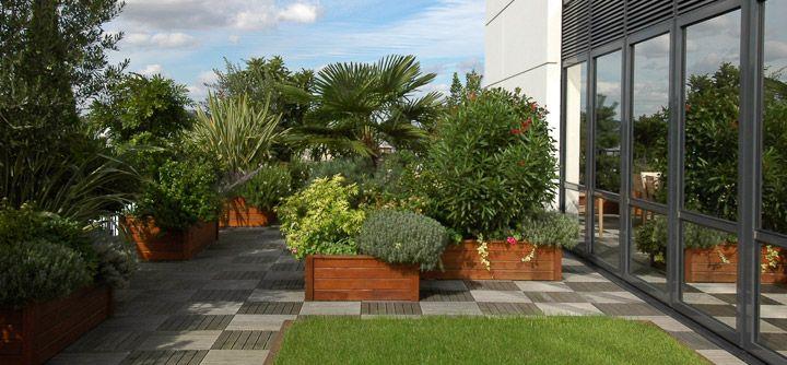 L'entreprise fait de sa terrasse un jardin
