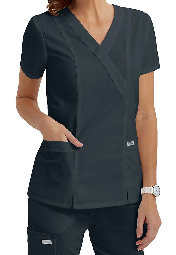 The great looking Grey's Anatomy crossover top is one of our best selling tops! | Scrubs & Beyond