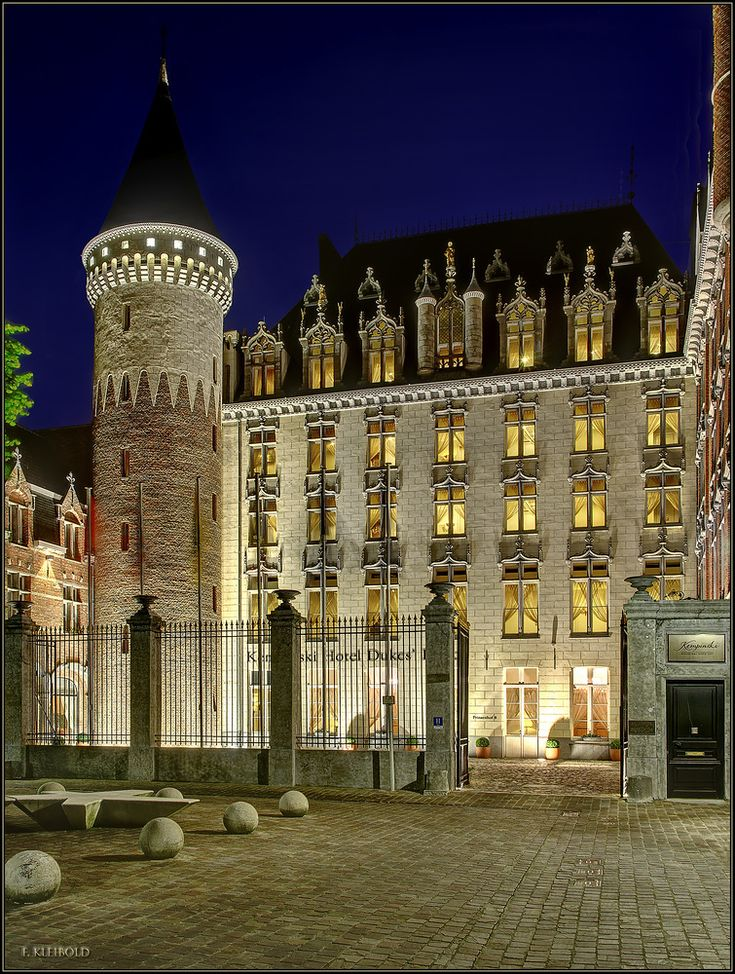 Kempinski Hotel Duke's Palace Brügge, Belgium. Formerly the palace of the Dukes of Burgundy. It is a wonderful place to stay.