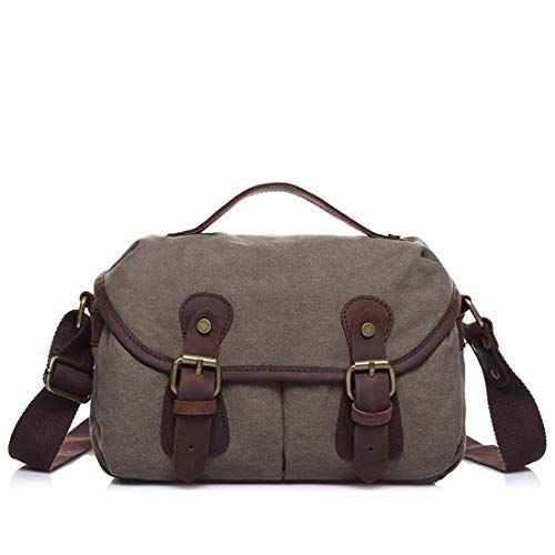 Color : Blue AIYAMAYA Simple Retro Briefcase Zippered Crossbody Bag Shoulder Bag