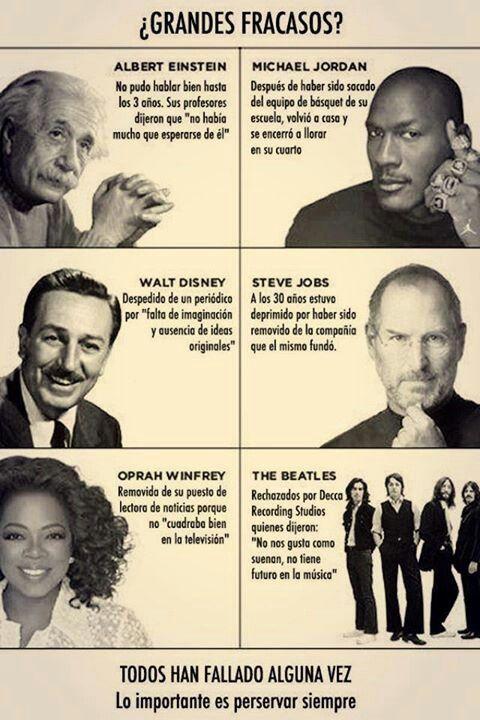 Antes del éxito, todos han fallado alguna vez
