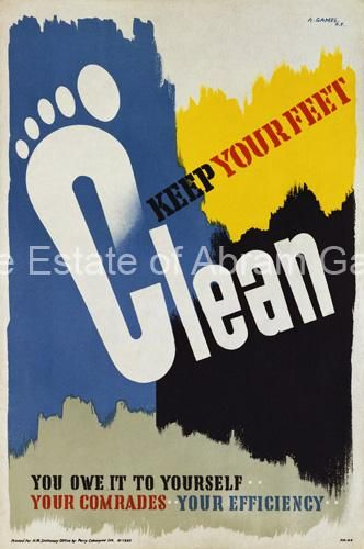 Abram Games - Keep Your Feet Clean