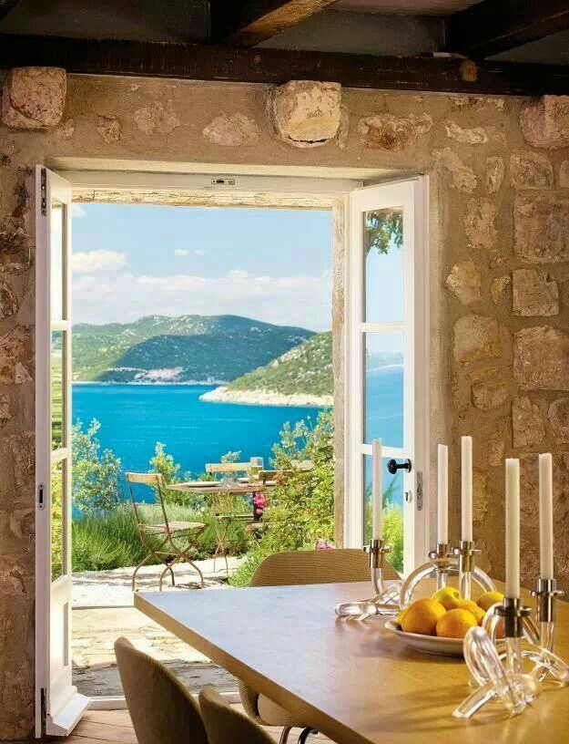A beautiful view from a Greek island house!