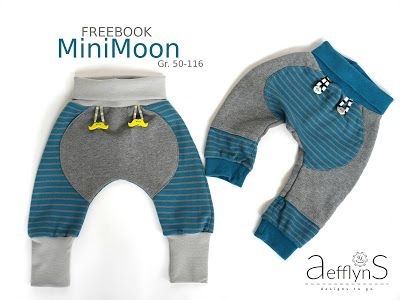 aefflynS - to go: FREEBOOK- Sweathose 'MiniMoon' 50|56 bis 110|116