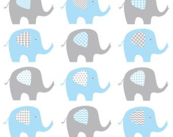 Baby Elephant Clip Art Blue And Grey Elephant Baby Boy