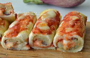 Rotolini di pancarrè alla parmigiana ricetta facile, ricetta facilissima e golosa, ricetta con le melanzane sfiziosa e semplice, ottima per aperitivo