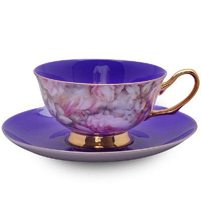 Purple Satin Shelley Tea Cup