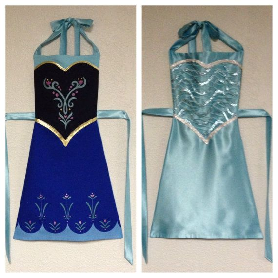 Frozen Anna and Elsa Reversible Dress-Up Apron