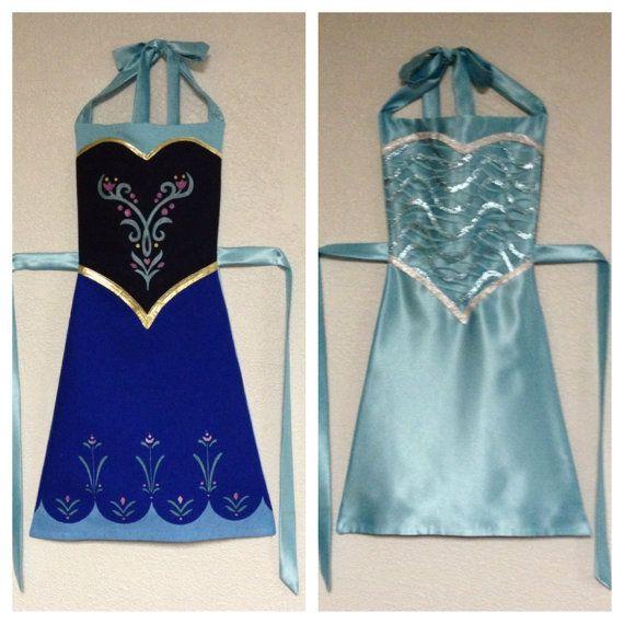 Frozen Anna and Elsa Reversible Dress-Up Apron