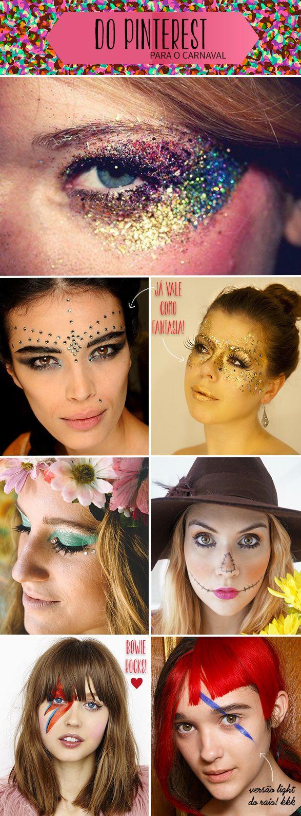 Inspirações de make, cabelo, acessórios e adereços para o Carnaval! Mais no GAROTAS ESTÚPIDAS: http://goo.gl/j8L32M