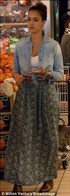 long skirt...