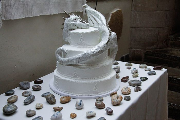Di + Craig's Medieval Magic Wedding - Dragon Cake