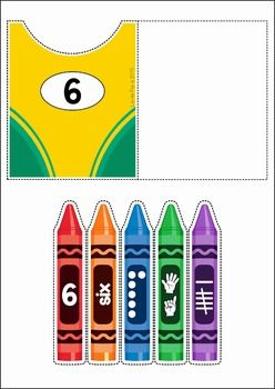 Back to School Preschool Centers. A page from the unit: Crayon Box Number Match