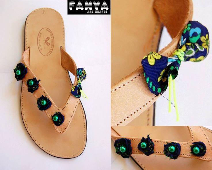 "handmade sandals ""mini fleurs"""