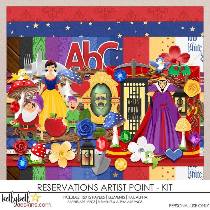 Reservations Artist Point Kit in 2020 Disney scrapbook